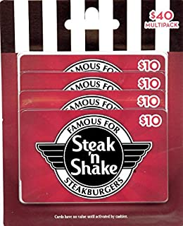 Steak 'n Shake Gift Cards, Multipack of 4