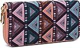 styleBREAKER Geldbörse im Ethno Look mit Azteken Muster, Boho Style, Reißverschluss, Portemonnaie,...