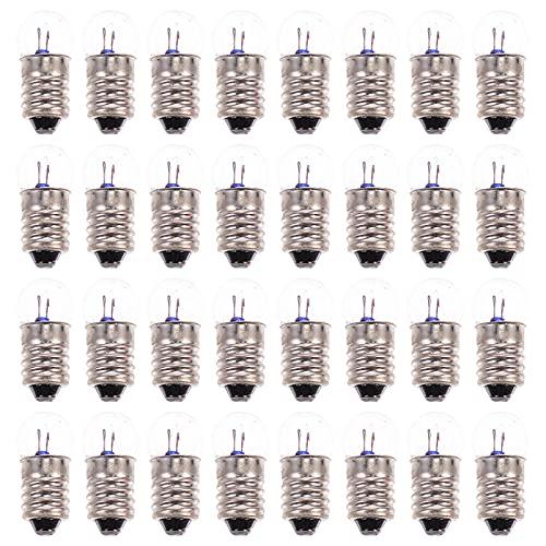 Scicalife 2. 5V 1. 5V 3. 8V Mini Bombillas de Luz Luz de Prueba Física Eléctrica Indicador de Base de Tornillo Bombilla Incandescente Antigua Lámpara de Linterna Suministros Eléctricos de