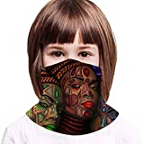 WH-CLA Polaina De Cuello para Niños, Arte Afroafricano De Mujeres Negras Cuello Bufanda Impreso Polainas De Cuello Sin Costura Pasamontañas Protección UV Sombreros para Pesca Yoga Caza