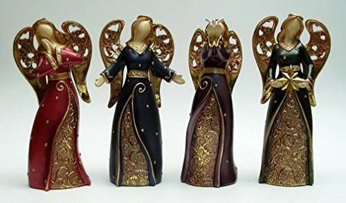 UNCATEGORIZED Collectible Bright Angel figurine set di quattro