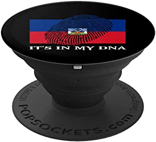 It's In My DNA Fingerprint | Prideful Haitian Design Gift - PopSockets Grip and Stand for Phones and Tablets