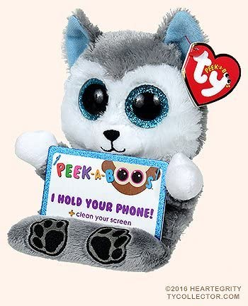 TY Beanie Boos Peek A Boos SCOUT the Husky Dog 5 5 inch Phone Holder product image