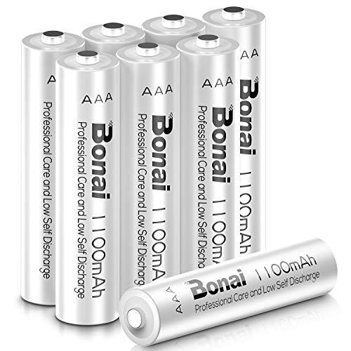 Bonai 単4形 充電池 充電式ニッケル水素電池 8個パック PSE/CEマーキング取得 UL認証済み(高容量1100mAh ...