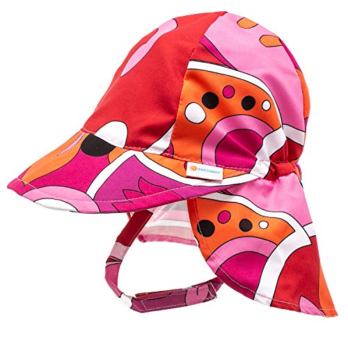Nozone Better Baby Girl Flap Sun Hat in Brandie Print, 9-18 Months