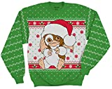 Ripple Junction Gremlins Gizmo Santa Ugly Christmas Sweater (Medium) Green