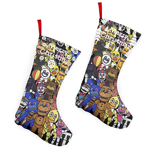 Five Nights At Freddy'S Christmas Stockings Xmas Stockings Ornaments 2-Piece Set 10-Inch Warmth