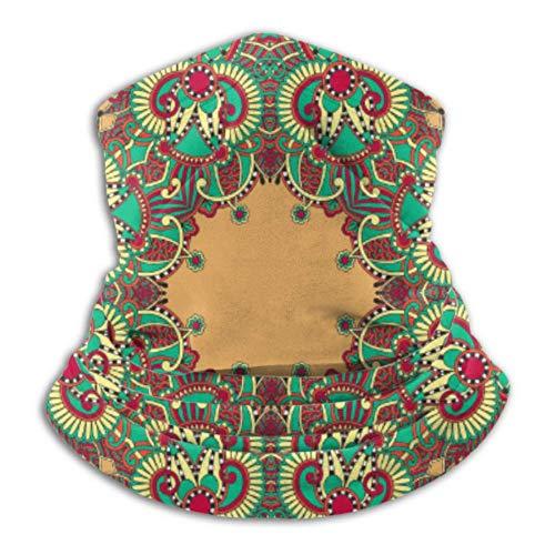 YUXB Scaldacollo in pile , multifunzionale tradizionale ornamentale floreale Paisley Bandanna Vector Sciarpa, una maschera o cappello pieno, ghetta sul collo, berretto al collo , sci