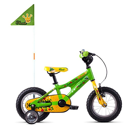 Ghost Powerkid AL 12R Kinder Fahrrad 2018 (One Size, Riot Green/Cane Yellow/Riot Red)