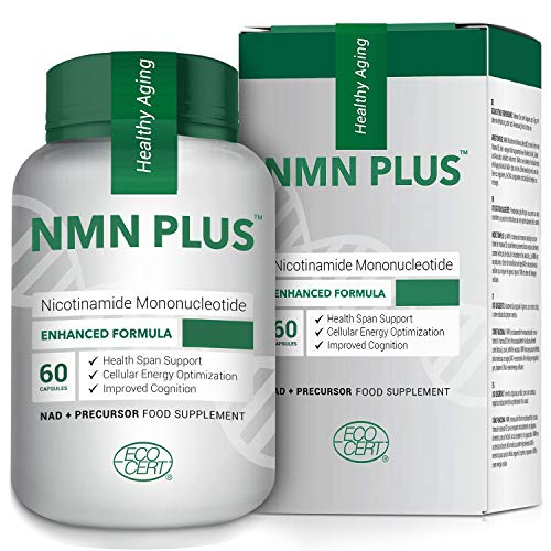 NMN Stabilized Form, 300MG Enhanced Absorption, Nicotinamide Mononucleotide for Energy & Metabolism Booster