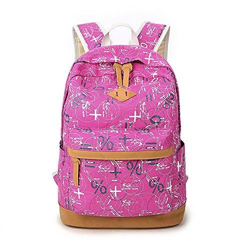 Sacs à dos mode impression Casual toile portable sac scolaire sac à dos léger pour jeunes adolescentes