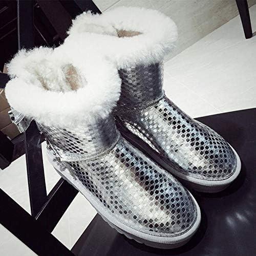 Xie Xie Bottes de Neige, Plus Velours Bottes antidérapantes Plat Femmes Enceintes Chaussures Bow  magasin discount