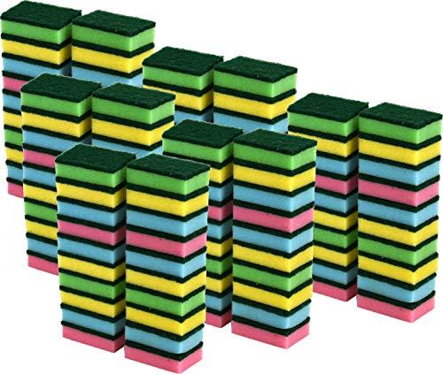 6 x kleine Reinigungsschwamm, saugfähig, farbige Schaumschwämme, 20 Stück