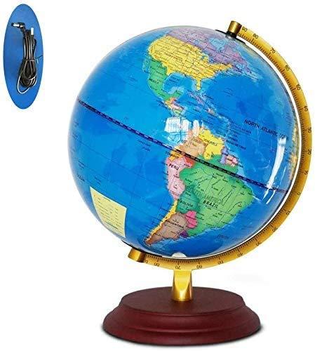 zhangcheng Interactive Earth Globe - Juegos educativos en Realidad Aumentada: geografía,Cultura,multijuegos,cuestionarios,Globo con Soporte