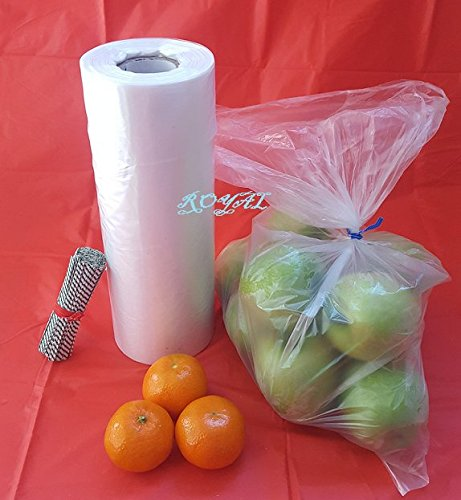 Royal Plastic bread Grocery Bag on Roll 12x20 Around 350 Plus bags with Twist Ties Roll