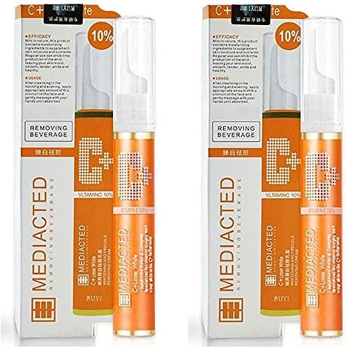 AGOOSE 15ml Instant Blemish Removal Gel, VC Serum Brighten Skin Care Cream Skin Whitening Pen