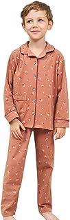 Conjunto de Pijama para Niños Blusa de Manga Larga con Estampado de Algodón Pantalones Niños Niñas Ropa de Dormir