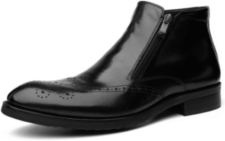 XINGF XINGF XINGF Schwarze, Schwarze High-Top-Schuhe Für Herren, Spitze British Martin-Stiefel, Lässige Business-Stiefel Sowie Herbst- Und Winter-Dress-Schuhe B07KT1PSVH 2df352