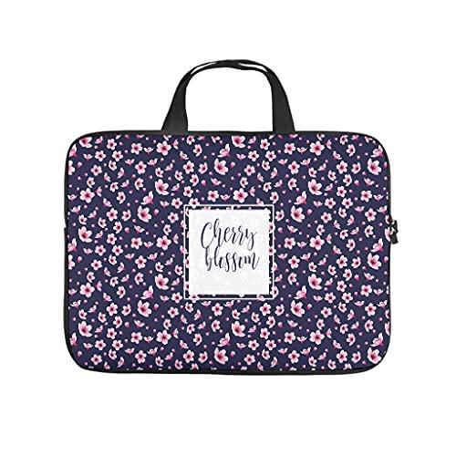 Japón cerezo flor ciruela Sakura flores portátil bolsa a prueba de golpes maletín maletín para el portátil para el trabajo universitario de negocios