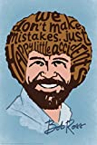 Bob Ross Happy Little Accidents Word Bob Ross Poster Bob Ross Collection Bob Art Painting Happy Accidents Motivational Poster Funny Bob Ross Afro and Beard Cool Wall Decor Art Print Poster 12x18