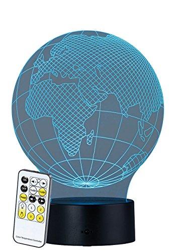 """Lunartec Party Lichter: 3D-Hologramm-Lampe mit Leuchtmotiv\""""Planet Erde\"""", 7-farbig (Hologramm-Dekolicht)"""