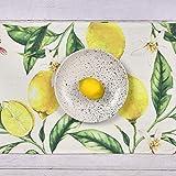 Bateruni Früchte Zitronen Tischläufer, Blumen Rechteckige Tischwäsche Matte, Hitzebeständig rutschfest Tischset für Esszimmer Party Urlaub 35 * 180cm - 5