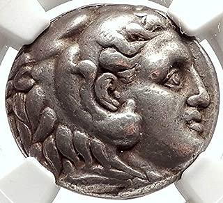 1000 GR Seleukos I Nikator AR Greek Tetradrachm Coin ALEX Tetradrachm VF NGC