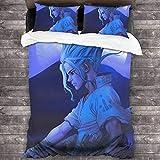 LWtiao-x Juego de ropa de cama 3D Animation médico, funda de edredón con cremallera, funda de almohada, microfibra, ropa de cama infantil, niño (6,135 x 200 cm + 80 x 80 cm x 1)