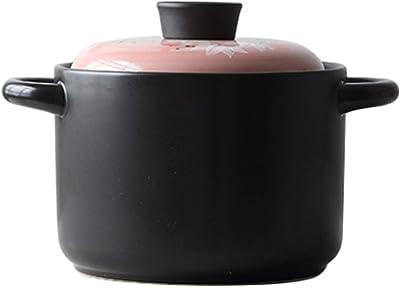 ふた付きキャセロール皿大容量高温調理省エネとふた付き環境保護キャセロールスロークッキング鍋鍋(サイズ:4L)