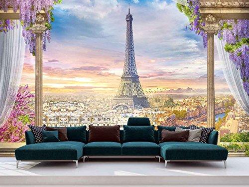 Fotomural Vinilo Pared Mirador Paris | Fotomural para Paredes | Mural | Vinilo Decorativo | Varias Medidas 150 x 100 cm | Decoración comedores, Salones, Habitaciones.