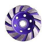 HHOSBFSS Purple Diamante MOLSING Rueda DE Rueda DE Rueda DE MOLLINADO Tapa DE ARMENIDO CUERCO CUERCO CUERTAMENTO CERRAMIENTO CHADE HERRAMENTA DE Poder 4'100mm, Usado En Mármol, Azulejo