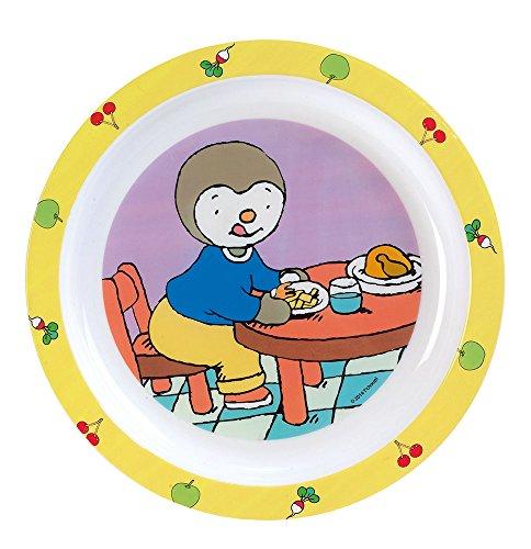 Fun House T'Choupi Assiette micro-ondable Bébé Unisexe, enfant