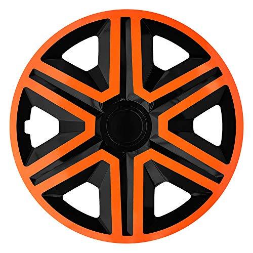 CM DESIGN Action Orange/Schwarz - 16 Zoll, passend für Fast alle Mercedes Benz z.B. für C-Klasse W203