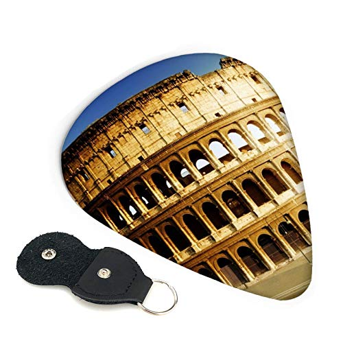 Hermosas púas de guitarra Rome Colosseum, paquete de 6, adecuadas para guitarra, ukelele, bajo, guitarra eléctrica