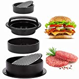 Geweo Burgerpress,Non-Stick Stuffed Burger Press,3 in 1 Different Size Burger Maker Mold for Stuffed, Sliders, Regular Beef Burgers, Non Stick Kitchen Barbecue Tool Grilling Accessories…