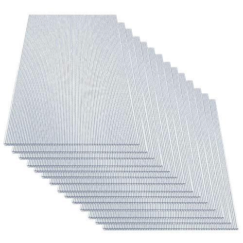 TolleTour 14 Stück Set Polycarbonat Hohlkammerstegplatten 4mm Stegplatten 1210 x 605 mm 10,25 m² Doppelstegplatte Stoßsicheren und UV-Beständigen für Gewächshaus Gartenbau Carports usw