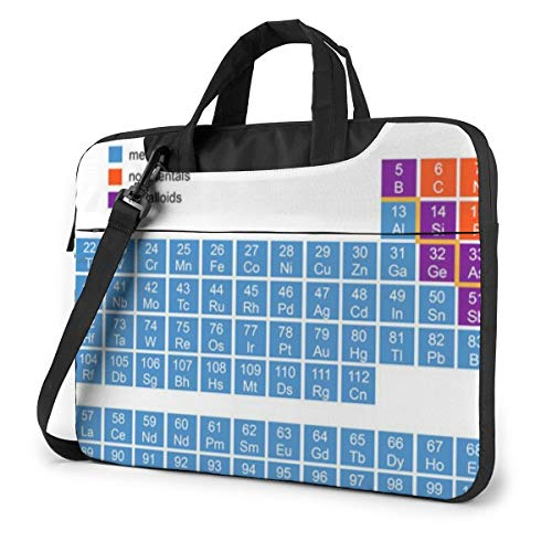 Chemical Periodic Table Unisex Laptop Bag Messenger Shoulder Bag for Computer Briefcase Carrying Sleeve
