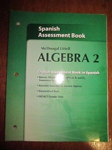 McDougal Littell Algebra 2 Assessment Book (Holt McDougal Larson Algebra 2)