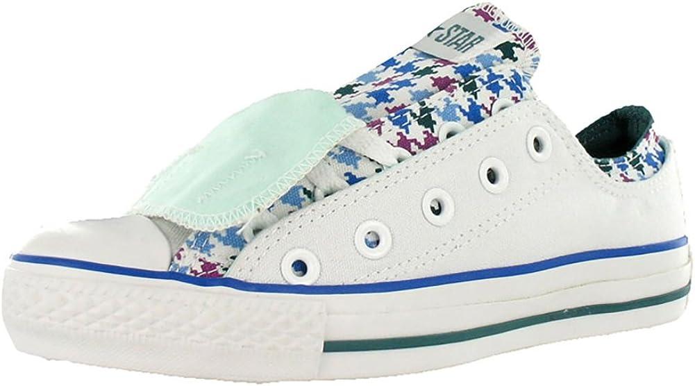 Converse Chuck Taylor Double Upper Oxford White/Blue Canvas Fashion Sneaker