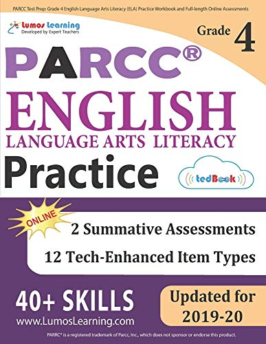 PARCC Test Prep: Grade 4 English Language Arts Literacy (ELA) Practice...