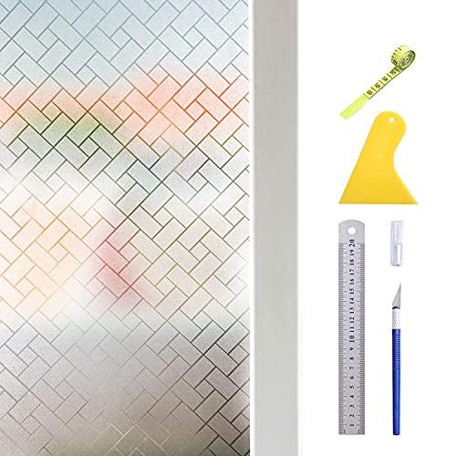 Hive Secrets: Película de privacidad para Ventanas, Equipada con Herramientas, Que Incluyen Cuchillo Manual, raspador, Regla de Acero y Cinta métrica. (44,5X200 cm)