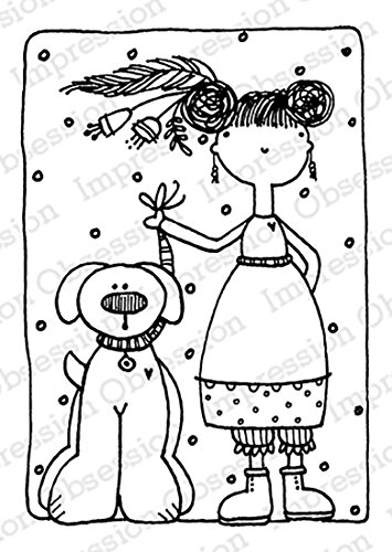 Impression Obsession IO - Heather and Clinton - Cling Rubber Stamp E19766