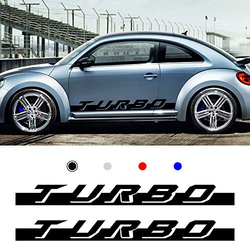 carado Racing Body Side Stripe Skirt Roof Hood Decal Sticker for Volkswagen Beetle Vinyl Sport Badge Car Styling Accessories Black 1 Pair