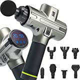 Muscle Massage Gun for Athletes - Deep Tissue Percussion Massager - Portable Handheld Electric Massager for Body Muscles, Back, Neck - New Model - 8 Massage Heads 20 Speeds Power Motor