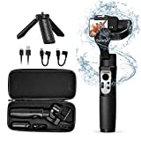 3-Axis Gimbal Stabilizer Handheld for GoPro 8 Action Camera W/Tripod Mount Water-Resistance GoPro Wireless Control for GoPro Hero 8,7,6,5,4,3, DJI Osmo Action,SJ CAM,YI Cam,Sony RX0 – iSteady Pro3