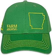 John Deere Farm State Pride Full Twill Hat-Green and Yellow-Arkansas