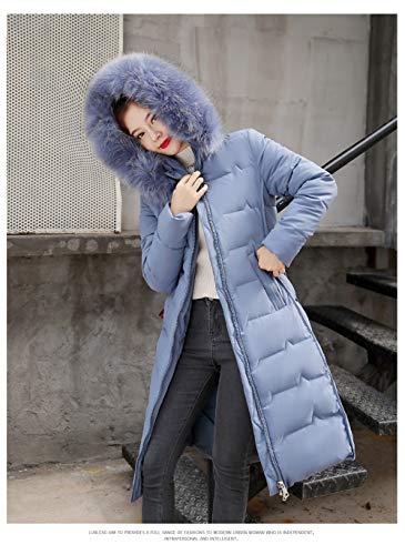 WFSDKN Down jas 2019 nieuwe Slim knie-hoge bontkraag jas winter jas lange sectie capuchon donsjack katoen