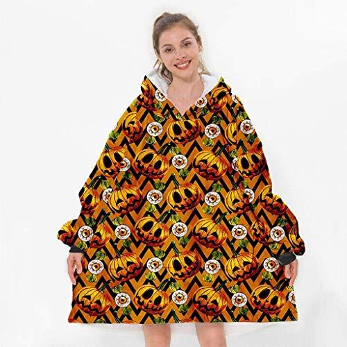 GUOXY Lazy Blanket - Manta de invierno con capucha y estampado digital