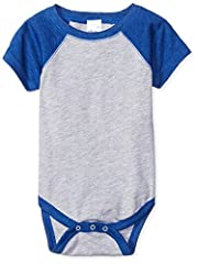 100 percent cotton Infant Baseball Bodysuit is an ultra-soft cotton polyester blend jersey with short raglan sleeves Made from combed ring spun cotton, polyester and viscose, this bodysuit provides a comfortable and soft feel that will never irritate...