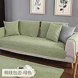 B/H Anti Slip <span class='highlight'>Sofa</span> Protector Cover,Cotton linen non-slip fabric <span class='highlight'>sofa</span> cushion,thick four seasons universal simple <span class='highlight'>sofa</span> cover-green_110×160cm,Slipcover Protector <span class='highlight'>Sofa</span> Throw